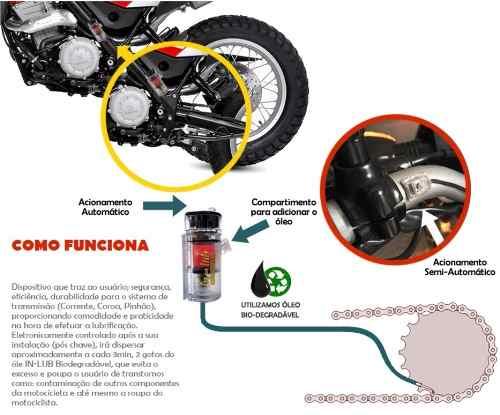 Lubrificante Semi-automático Corrente Moto Frete Grátis