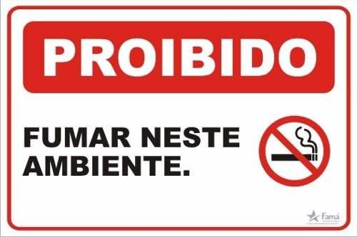 Placa Sinalização Proibido Fumar 20x30 Cm - Vários Modelos
