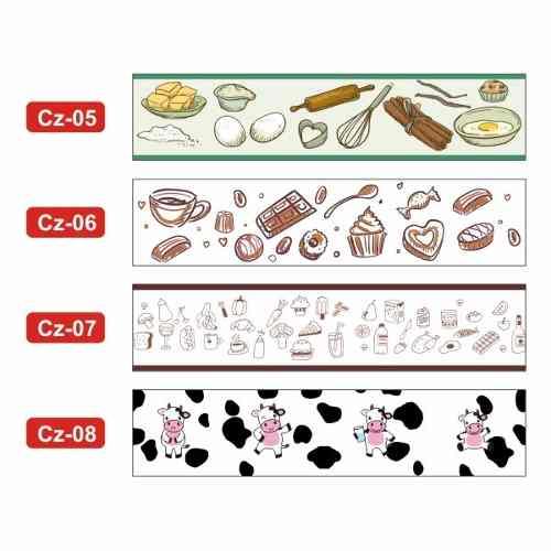 Faixa Decorativa de Parede para Cozinha - Bordas