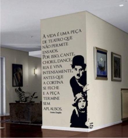 Adesivo Decorativo para Parede e Porta Charlie Chaplin