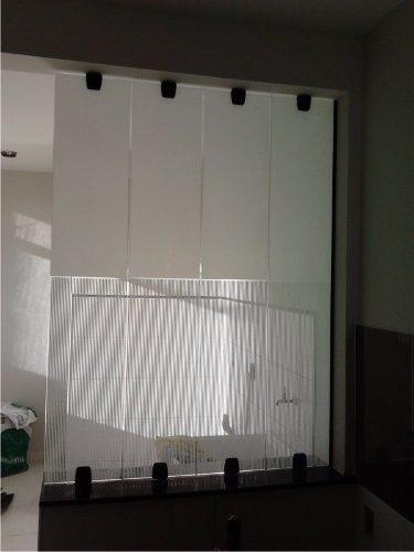 Adesivo Decorativo Jateado liso p/ Vidro - Box, Janelas e Portas - 100 x 50 cm