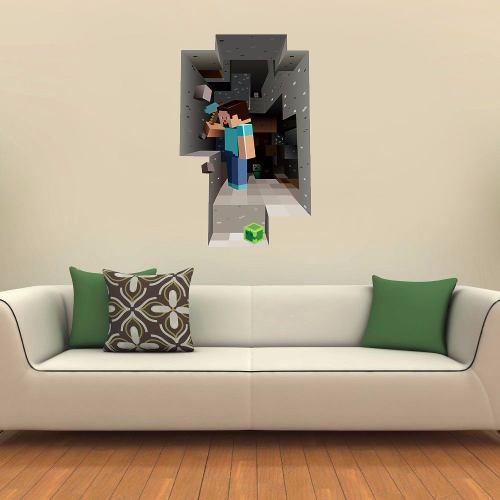Adesivo Decorativo Minecraft para Parede - 60 X 100 Cm