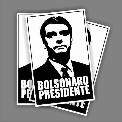 20 Adesivos Carro Bolsonaro Presidente 30x6 Cm Frete Grátis