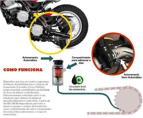 Lubrificante Semi-automático Corrente Moto P/ Todas Marcas