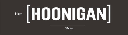 Adesivo Parabrisa Hoonigan - 50 X 11 Cm