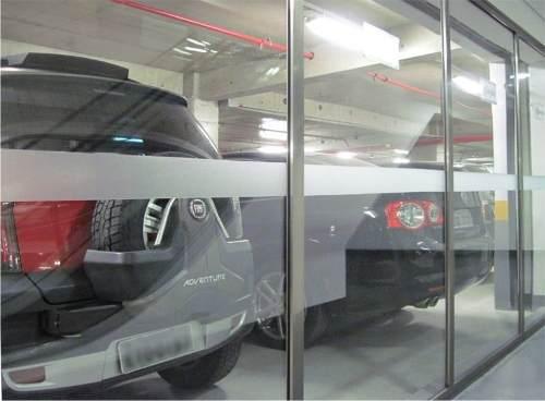 Faixa Decorativa e Segurança em Adesivo Jateado P/ Portas De Vidro