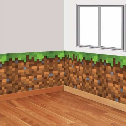 Adesivo Decorativo Textura Parede Quarto Minecraft 1,5 x 1,0 cm