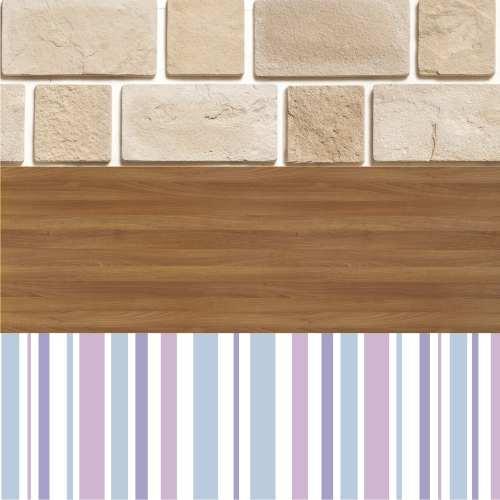 Adesivo Papel De Parede - Texturas de Pedras, Madeira e Listras - 2 x 1 m
