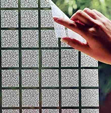 Adesivo Decorativo Jateado P/ Vidro, Box, Janela e Porta - 100 x 50 cm