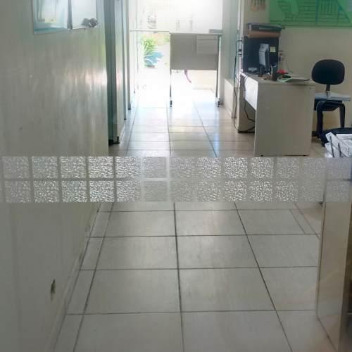 Faixa Decorativa e Segurança em Adesivo Jateado Quadra P/ Portas De Vidro - 100 x 11,5 cm