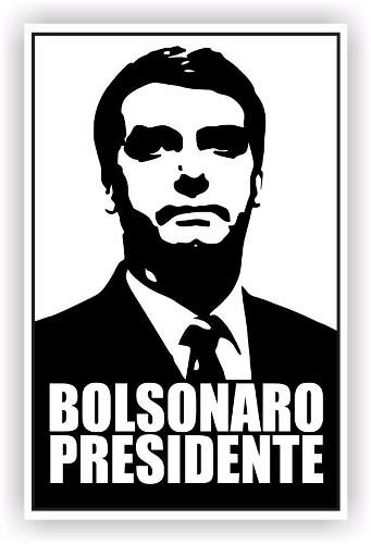 20 Adesivo Carro Bolsonaro Presidente 10 x 6,5 Cm