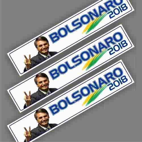 20 Adesivo P/ Carro E Parede Bolsonaro Presidente 30x6 Cm