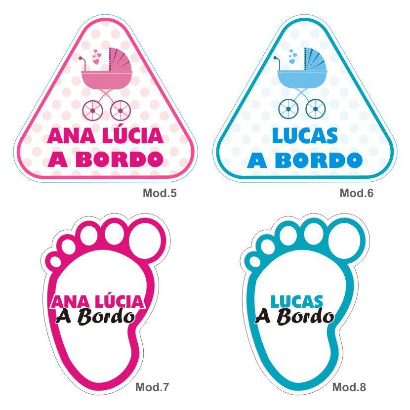 Adesivo Bebê a Bordo Personalizado