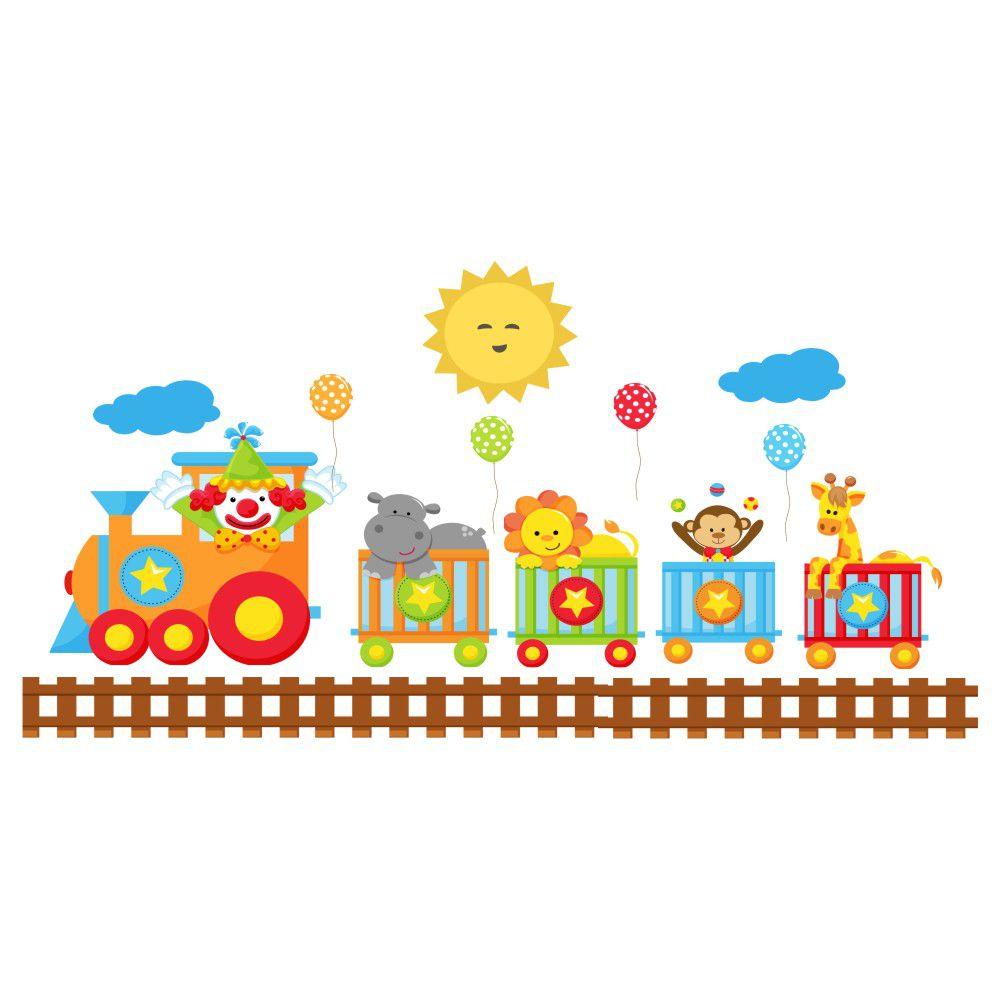 Adesivo de Parede Infantil Baby Circo Safari