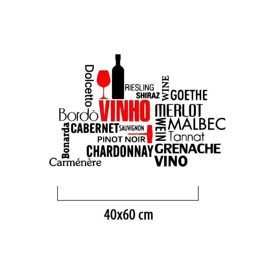 Adesivo Decorativo de parede - Diversos Tipos Vinho