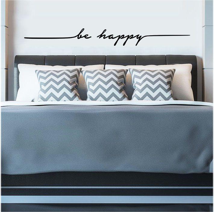 Adesivo Decorativo Parede Frase BE HAPPY