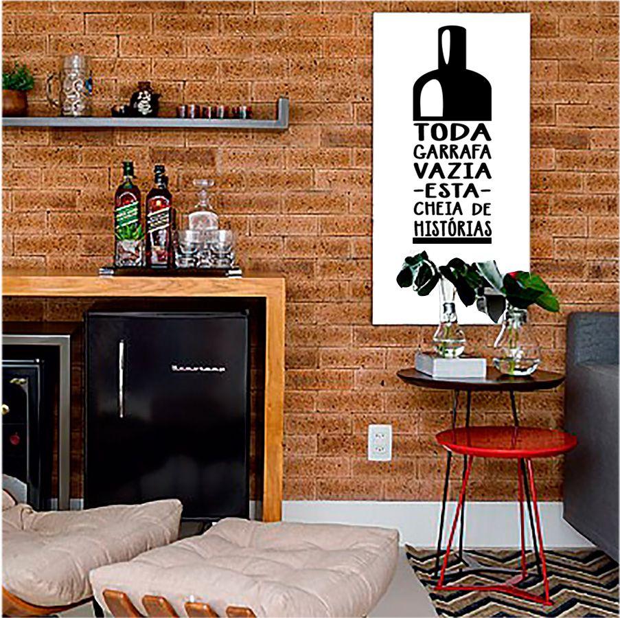 Adesivo Decorativo Garrafa Vinho