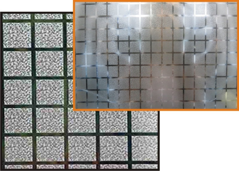 Adesivo Decorativo Jateado P/ Vidro, Box, Janela e Porta - 1,0 x 1,0 m