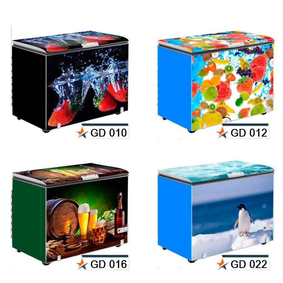 Adesivo Decorativo p/ Envelopamento de Freezer - Frente e Laterais