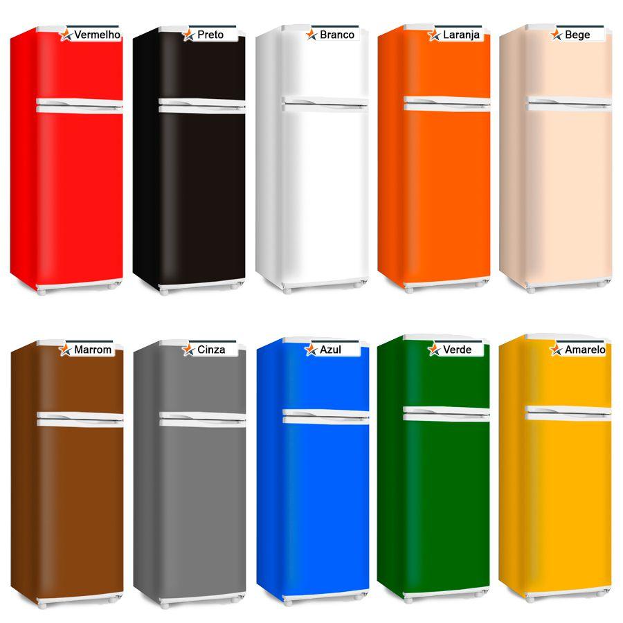 Adesivo Decorativo p/ Envelopamento de Geladeira E Freezer - Frente e Laterais cores lisas