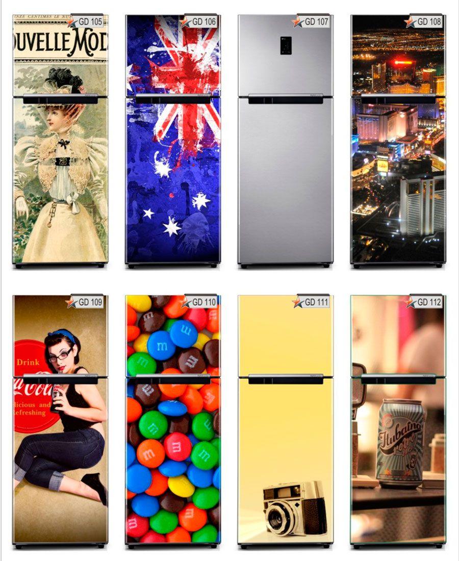 Adesivo Decorativo para Envelopamento de Geladeira E Freezer - Completa com Imagem