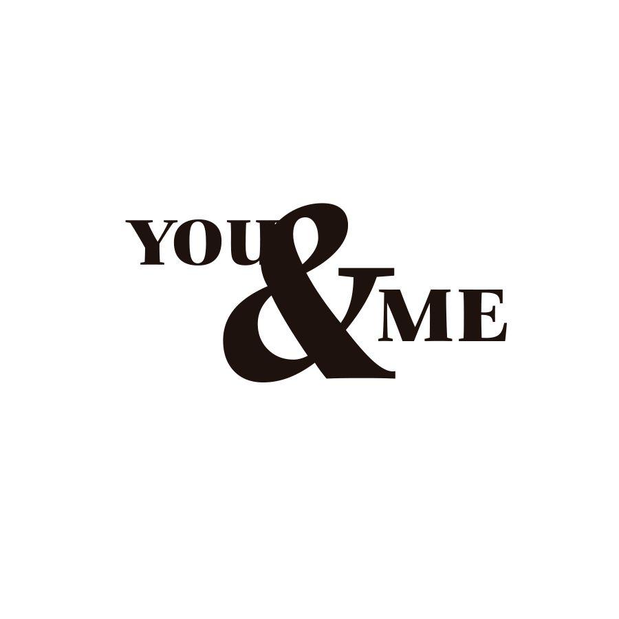 Adesivo Decorativo para parede Frase YOU & ME - EU E VOCÊ