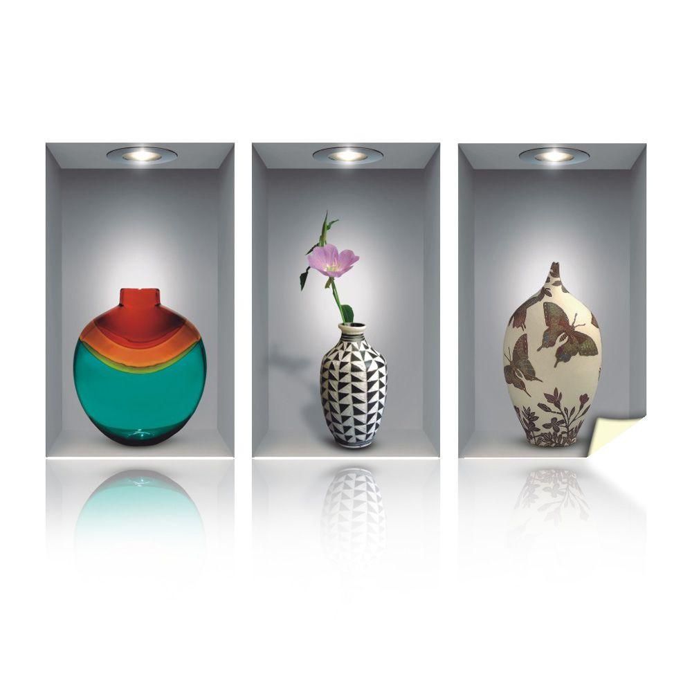 Adesivo Decorativo para Parede Nichos e Vasos 3D