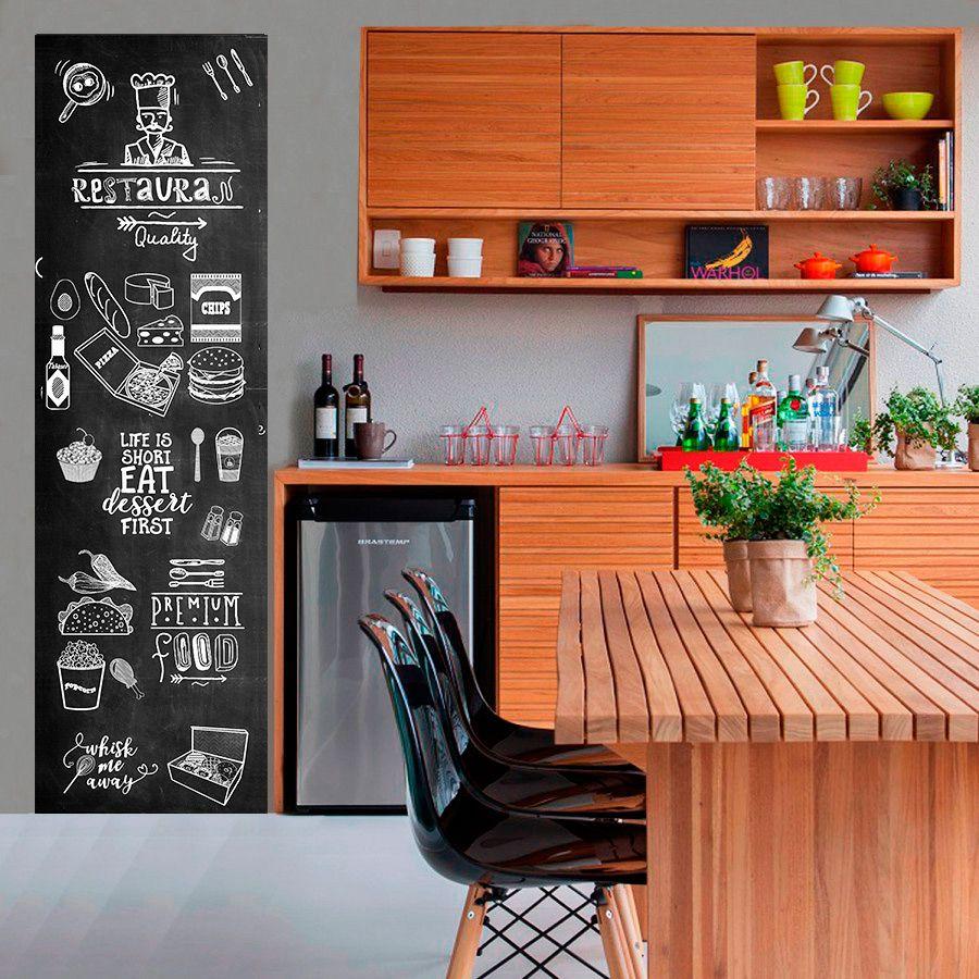Adesivo Decorativo Parede Chalkboard lousa Restaurante, Cozinha, área gourmet  1,80 x 0,50 m
