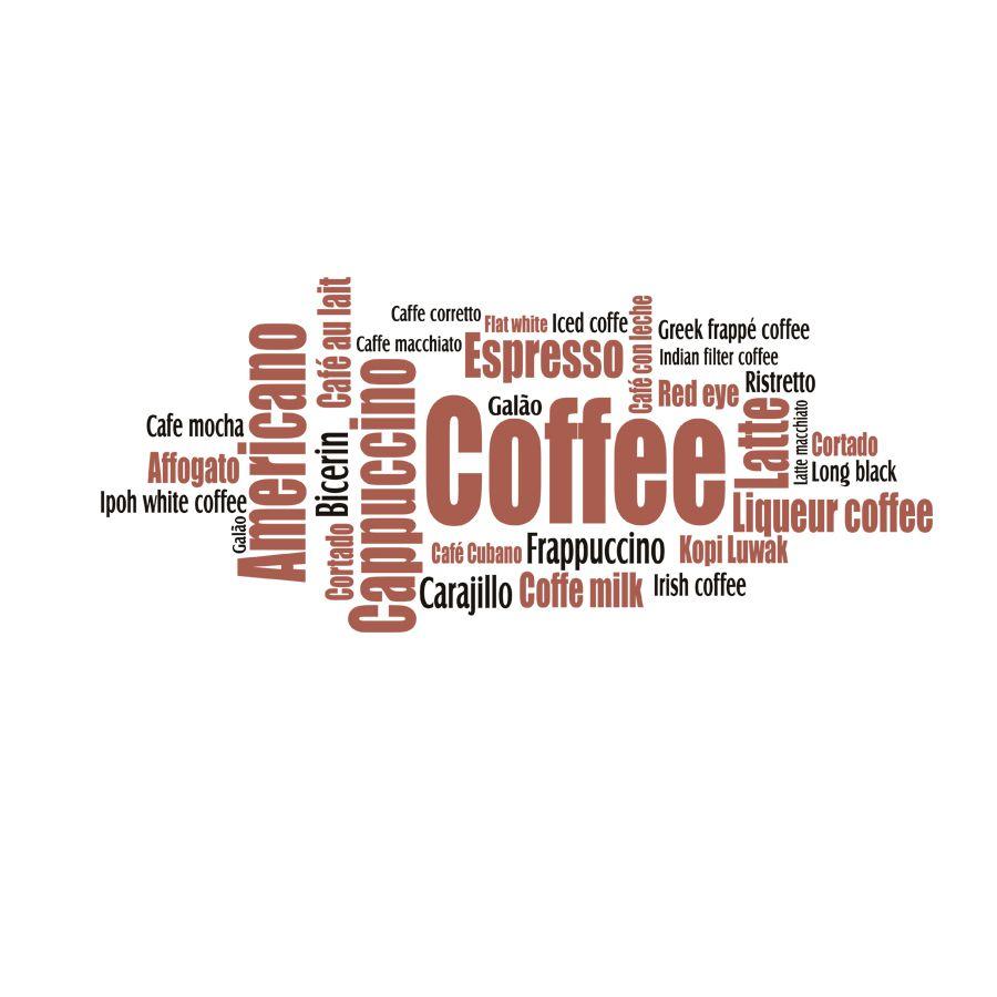 Adesivo Decorativo Parede COFFEE - CAFÉ