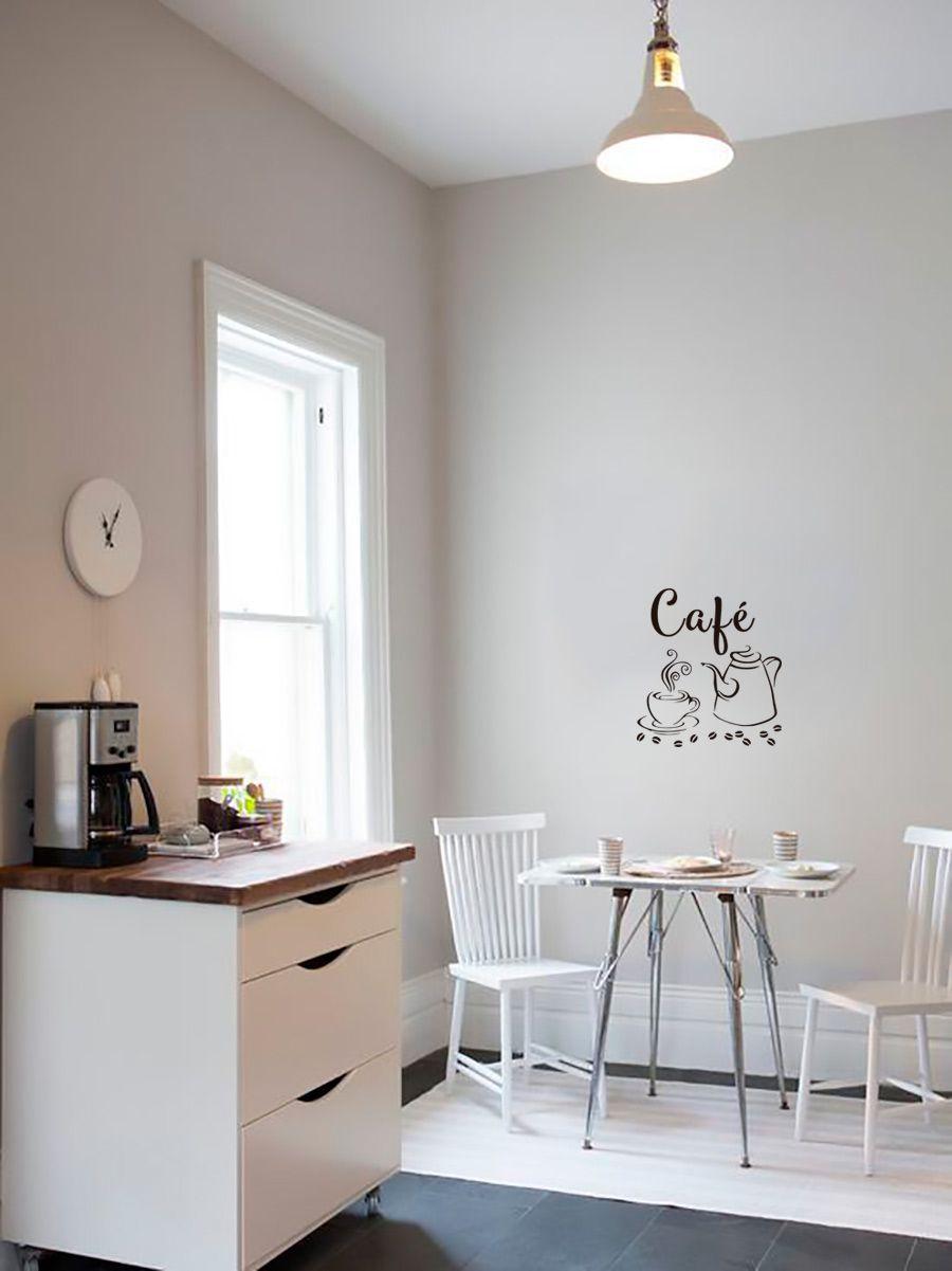 Adesivo Decorativo Parede Cozinha - Café com Bule