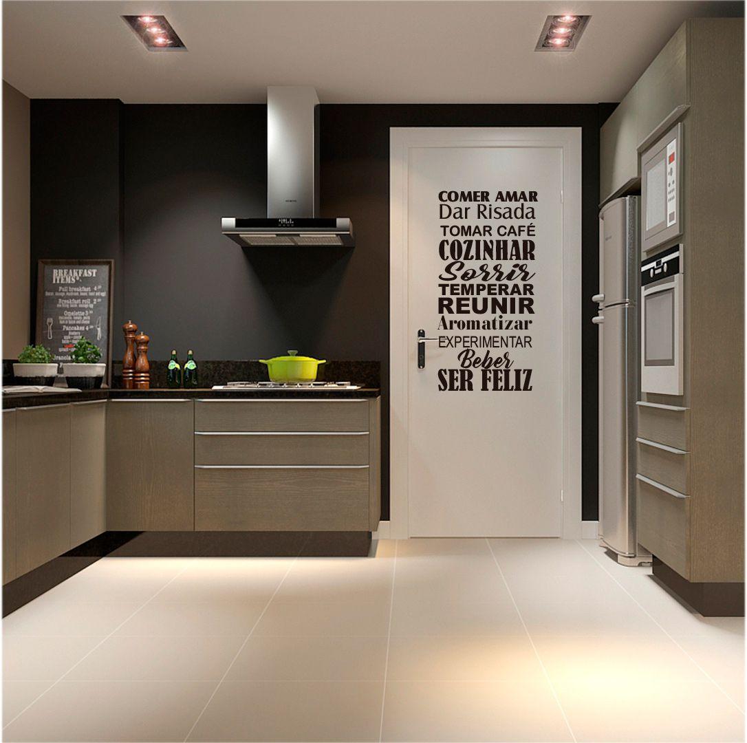Adesivo Decorativo Parede Frase Cozinha, Area gourmet