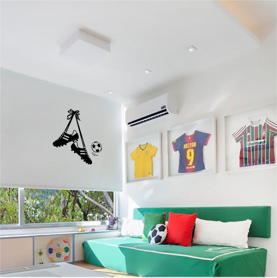 Adesivo Decorativo Parede Futebol, Chuteira e Bola