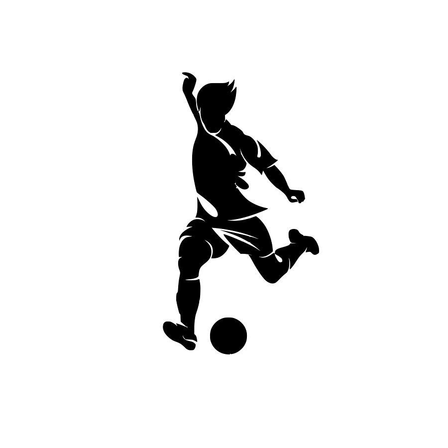 Adesivo Decorativo Parede Futebol e Jogador
