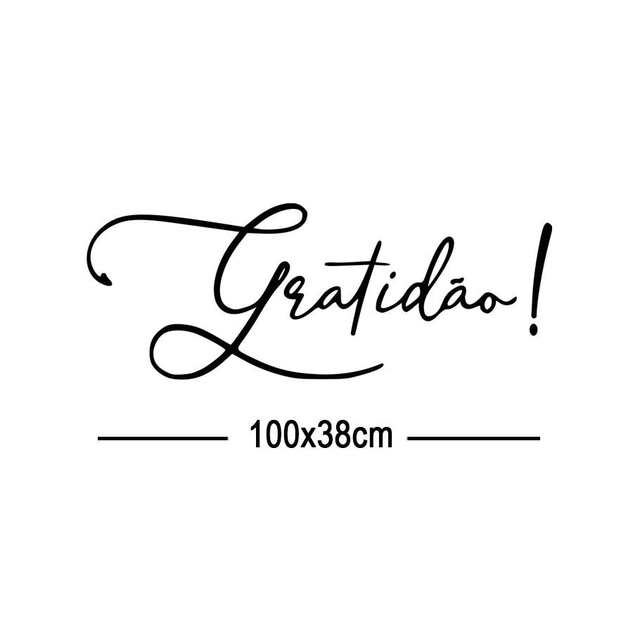 Adesivo Decorativo Parede GRATIDÃO
