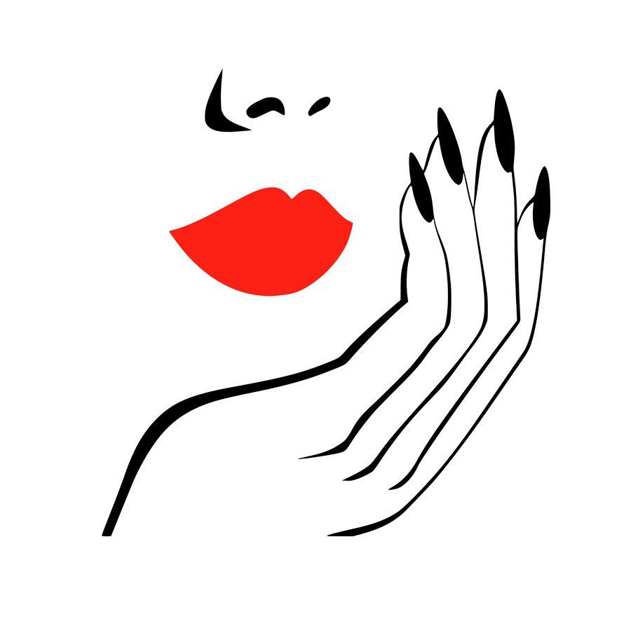 Adesivo Decorativo Parede Mãos e boca sexy