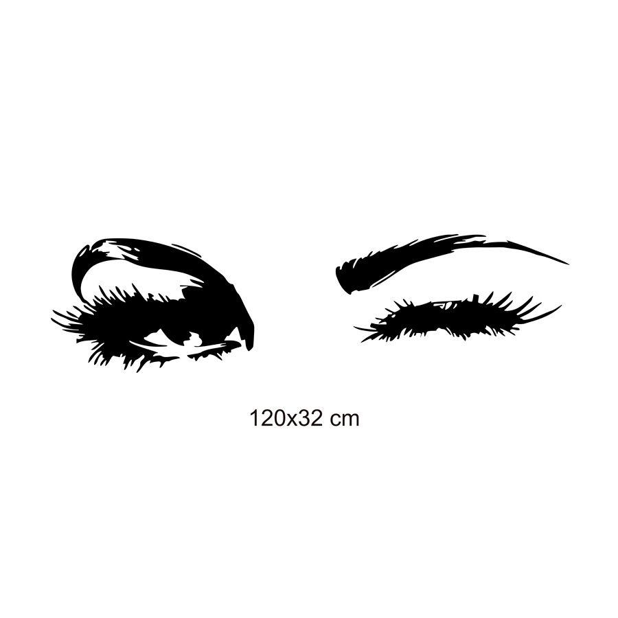 Adesivo Decorativo Parede Olhos e Sobrancelhas