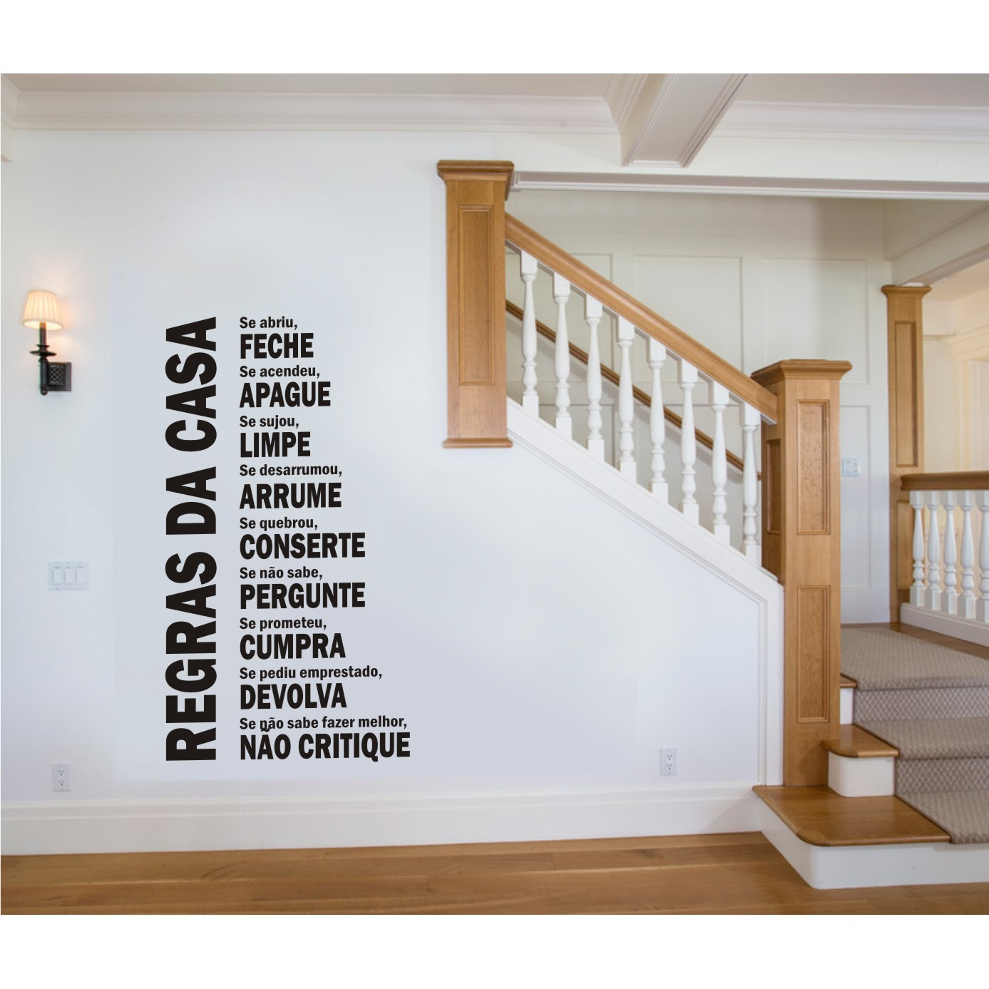 Adesivo Decorativo Parede Regras da Casa