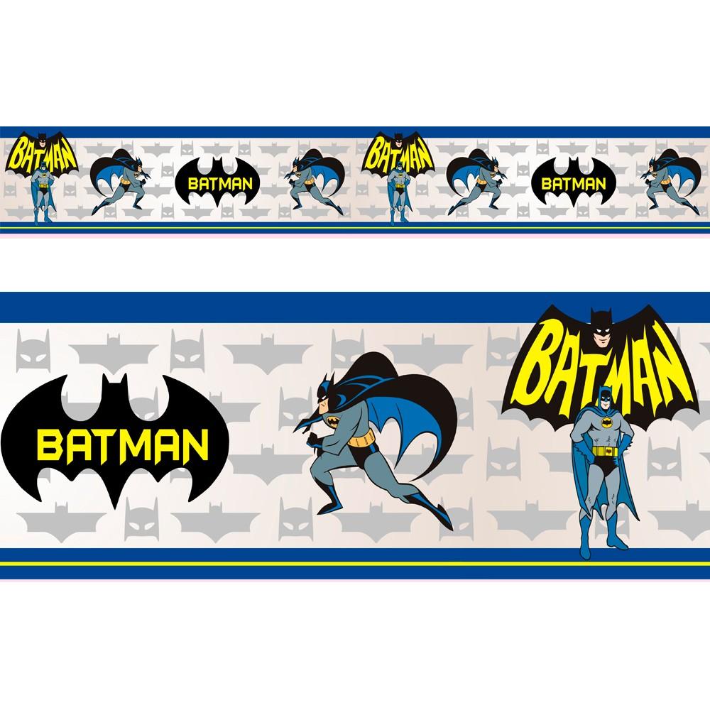 Adesivo faixa decorativa de parede infantil borda bebe  - Batman