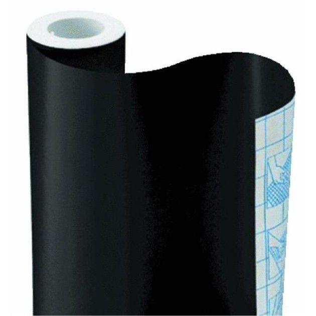Adesivo Lousa Quadro Negro, Preto Fosco, 2 x 1 m + 4 Giz