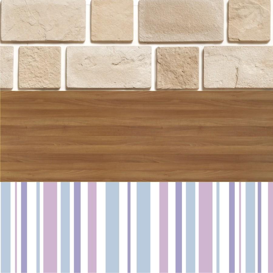 Adesivo Papel De Parede - Texturas de Pedras, Madeira e Listras - 100 x 50 cm