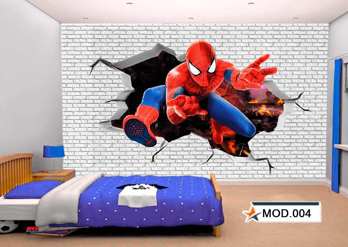 Adesivo Parede infantil Super Heróis - Diversos modelos