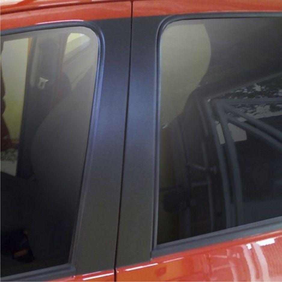 Adesivo Preto Fosco Jateado Para Colunas de Carros
