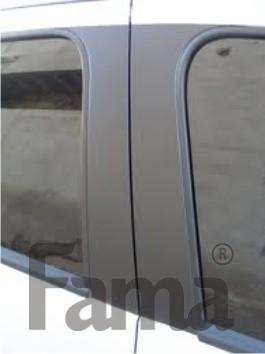Adesivo Preto Fosco Jateado Para Colunas de Carros - 60 x 25 cm