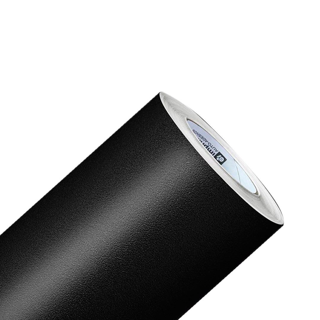 Adesivo Preto Rugoso Fosco Jateado Para Colunas de Carros - 5 x 0,40m