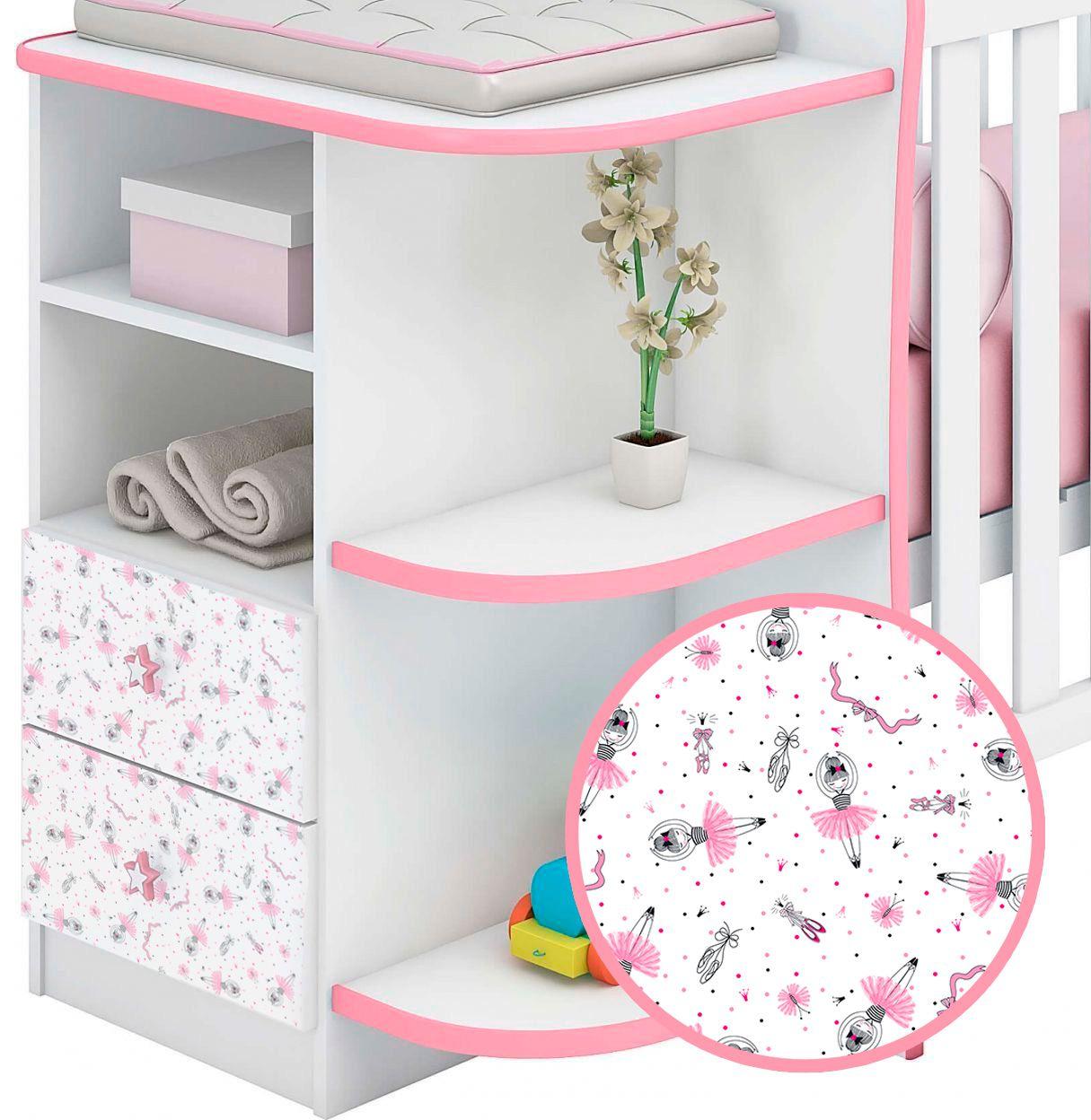 Adesivo Texturizado para Decoração Parede, Móveis e objetos - Infantil Bailarina