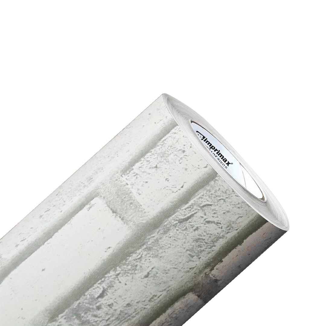 Adesivo Texturizado Pedra de Tijolo Branco- Modelo 1803