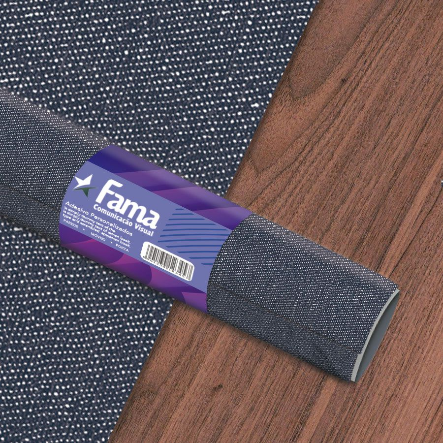 Adesivo Texturizado para Decoração - Tecido Jeans