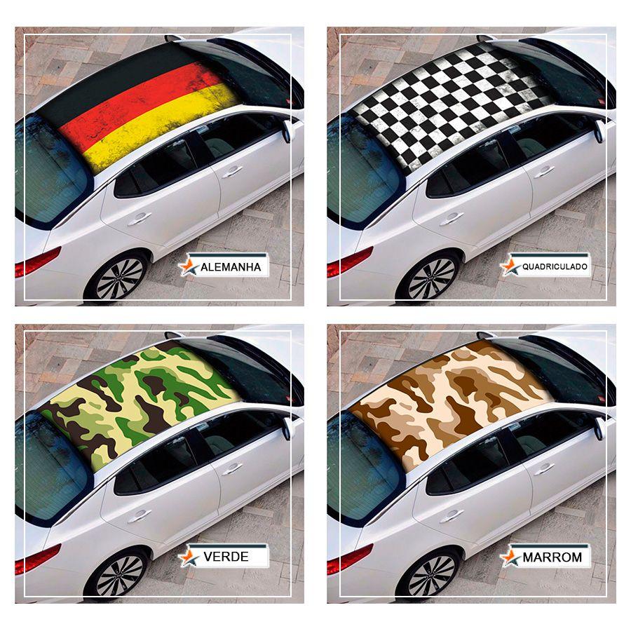 Adesivo Tunning p/ Envelopamento de Teto de Carro - Bandeiras e Marcas