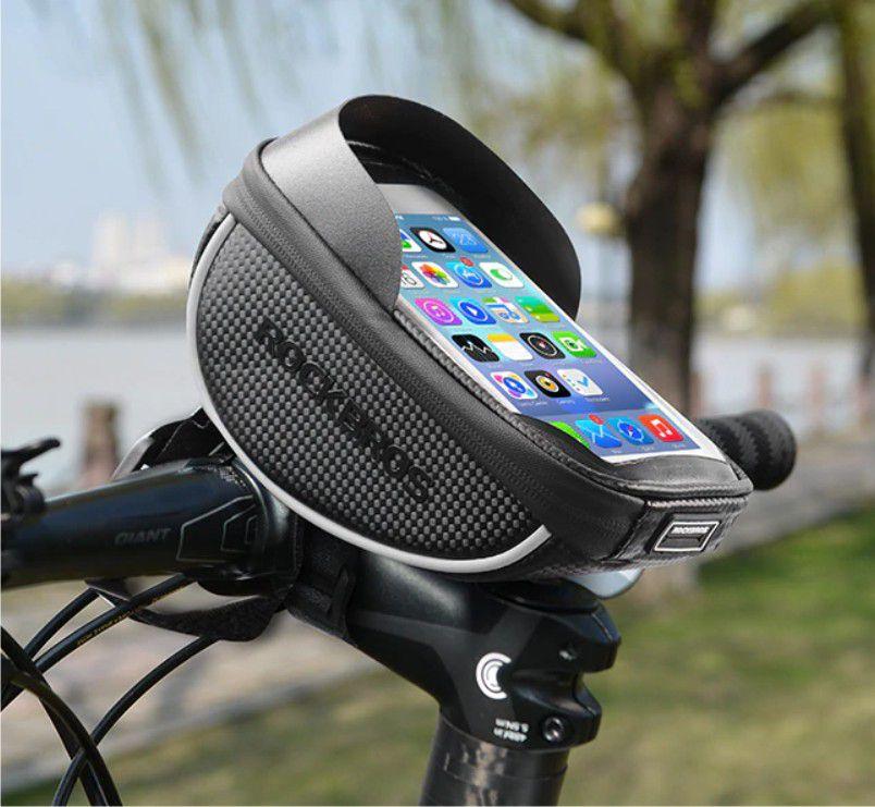 Bolsa Guidão Rockbros Celular 6 Pol. Bike Impermeável