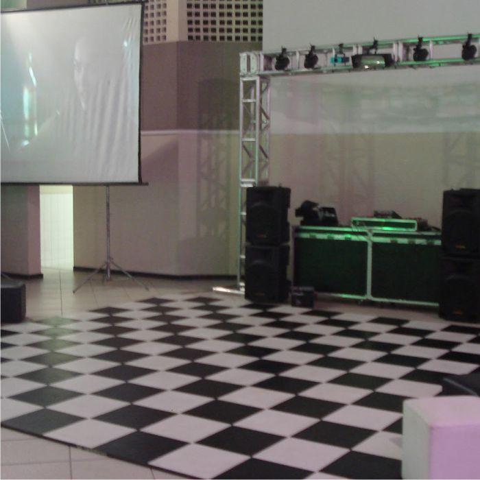 Tapete Emborrachado Pista Dança Xadrez 4 x 4 m